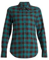 Golden Goose Deluxe Brand Helena point-collar checked cotton shirt