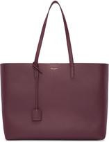Saint Laurent Burgundy Large Shopping Tote Bag