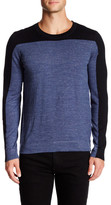 Vince Sporty Jaspe Colorblocked Crew Neck Sweater