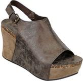 Pierre Dumas Women's Sandals bronze - Bronze Marbled Elsa Wedge Sandal - Women