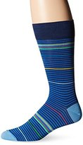 Bugatchi Men's Prime Time Stripe Fancy Sock