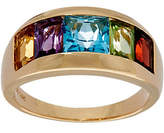 QVC Channel Set Multi-Gemstone Band Ring 14K Gold 2.85 cttw