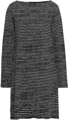 ATM Anthony Thomas Melillo Striped French Cotton-blend Terry Dress