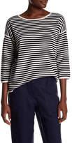 Eileen Fisher Stripe Silk Blend Sweater
