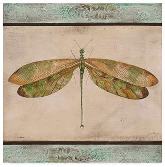 """Jean Plout 'Dragonfly Tapestry' Canvas Art - 14"""" x 14"""""""