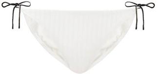 Solid & Striped The Iris Side-tie Bikini Briefs - Cream