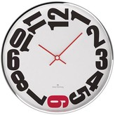 "Oliver Hemming Wall Clock with Bold Sideways Number Dial (16"")"