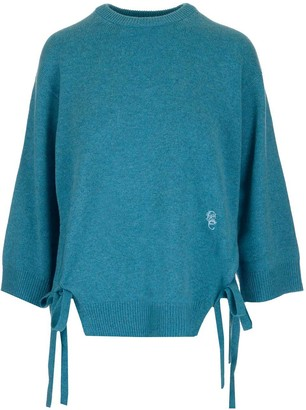 Chloé Logo Embroidered Side Ribbon Jumper