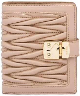 Miu Miu Matelasse lock wallet