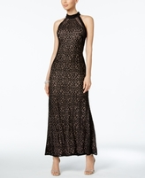 Night Way Nightway Nightway Petite Sequined Lace Gown