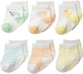 Carter's Unisex-Baby Newborn Color Animal Socks