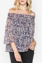Sugar Lips Paisley Off The Shoulder Top