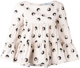Blumarine printed billowy blouse - women - Cotton/Spandex/Elastane - 42