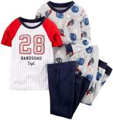 Carter's Baby Boys' 4 Piece Sports Tee PJ Set (Baby) - 9M