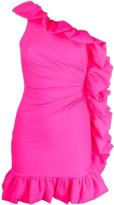 Amen Ruffle-Detail One-Shoulder Dress