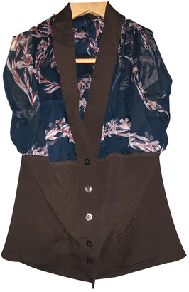 Hermes Burgundy Silk Tops