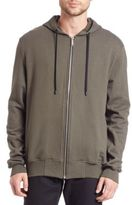 Public School Ollan Ruched Zup Hoodie