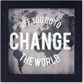 """New View Change the World"""" Framed Wall Art"""