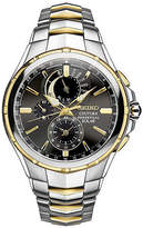 Seiko Coutura Mens Two-Tone Stainless Steel Solar Perpetual Calendar Chronograph Sport Watch SSC376, One Size , No Color Family