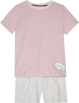 The Little White Company Whale and striped cotton pyjamas 6-12 years