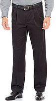 Roundtree & Yorke Travel Smart Straight Fit Pleated Ultimate Comfort Chino Pants