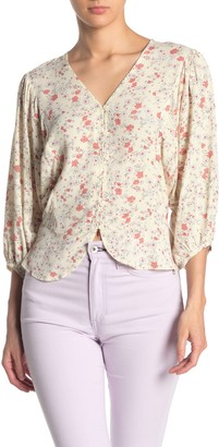 Elodie K Batwing Sleeve Button Front Blouse
