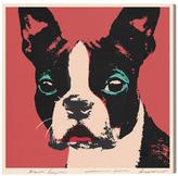 Oliver Gal Doggy Warhol by Canvas)