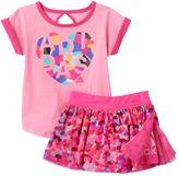 adidas Baby Girl Mosaic Tee & Skort Set