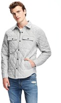 Old Navy Quilted Shirt Jacket for Men