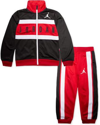 Jordan Little Boys 2-Pc. Colorblocked Tricot Jacket & Jogger Pants Set
