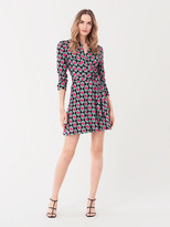 Diane von Furstenberg Didi Silk-Jersey Buttoned Wrap Dress