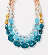 LOFT Triple Strand Beaded Necklace