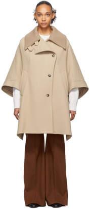 Chloé Beige Cape Coat