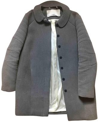 Tara Jarmon Grey Cotton Coat for Women