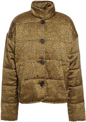Joie Maysa Quilted Leopard-print Shell Jacket