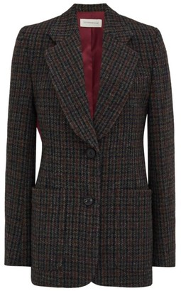 Victoria Beckham Patch Pocket Wool Fitted Jacket