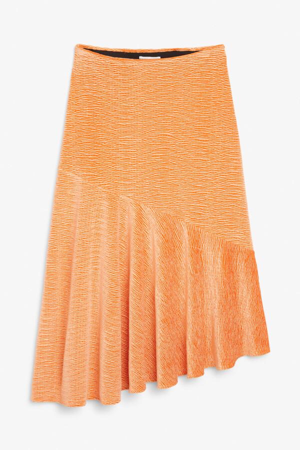 Monki Textured velvet skirt