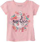 Nautica Girls' Floral Anchor T-Shirt