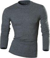 jeansian jensin Men's Slim Long Sleeves Essentils High Neck T-Shirt Tee Undershirt LA127 US M