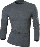 jeansian jensin Men's Slim Long Sleeves Essentils High Neck T-Shirt Tee Undershirt LA127 US S