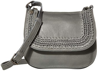 The Sak Playa Leather Saddle Bag (Black) Handbags