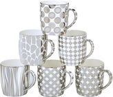 Certified International Elegance Silver 6-pc. Coffee Mug