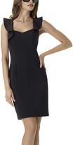 Shape Fx Black Ava Flutter-Sleeve Dress