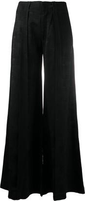 Andrea Ya'aqov High-Waisted Wide-Leg Trousers