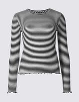 Marks and Spencer Striped Long Sleeve T-Shirt