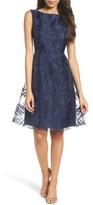 Ellen Tracy Women's Burnout Fit & Flare Dress