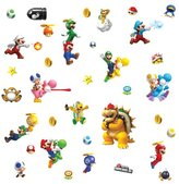 Nintendo RoomMates Repositionable Childrens Wall Stickers Super Mario Bros Wii