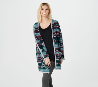 Cuddl Duds Reversible Fleece Wrap with Pockets