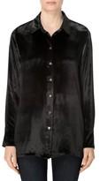 J Brand Women's Nora Velvet Shirt