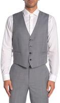 Calvin Klein Medium Grey Twill Slim Fit Suit Separate Vest